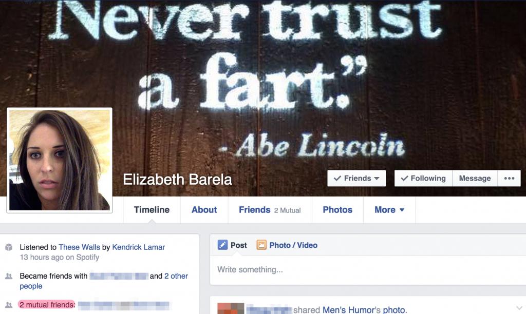Elizabeth Barela Facebook Profile