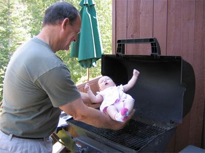 What BBQ's are like when you're 53 and taking care of your 16 year old daughter's baby imgur