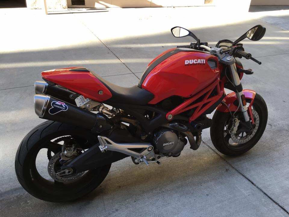 piper 09 Ducati Monster 696 finally found true love