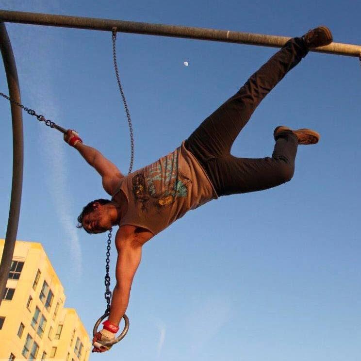 swinging like tarzan traveling rings