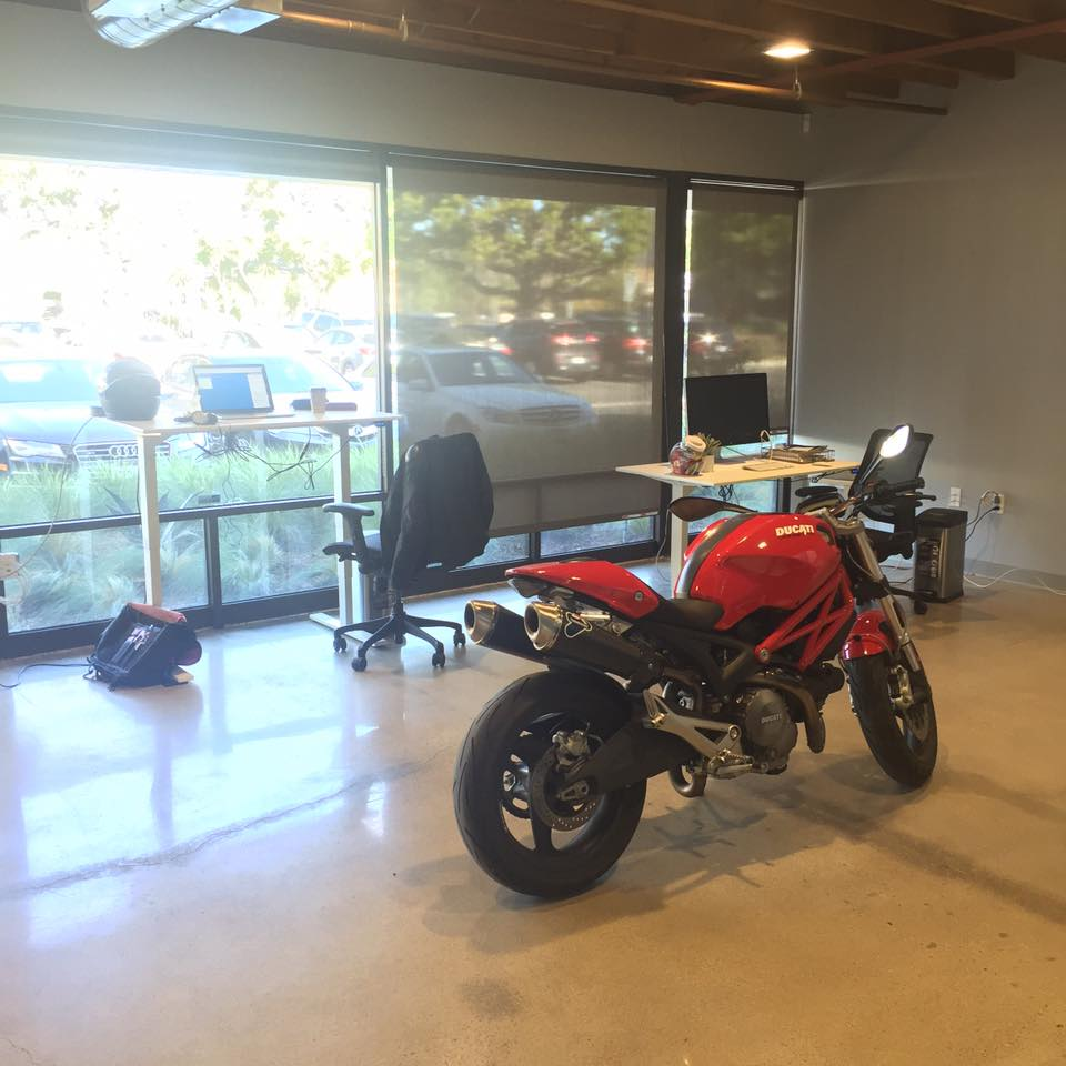 piper the ducati parking space inside new office