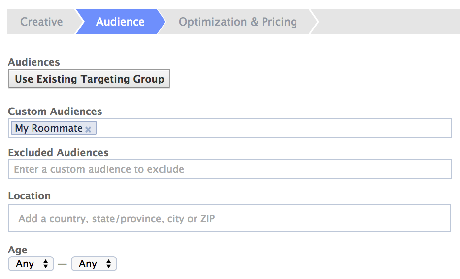 Facebook Custom Audiences
