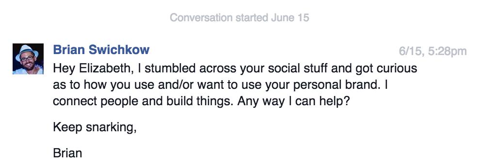 Elizabeth Barela Facebook Conversation