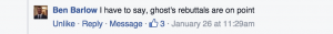 ghost influence facebook post