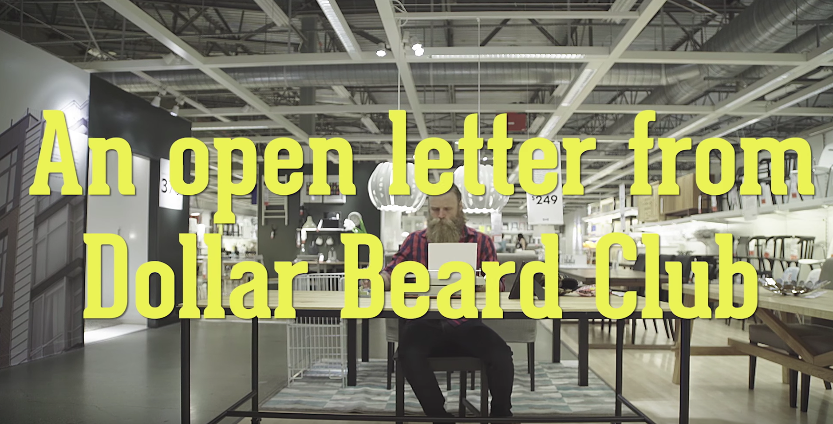 creative content marketing an open letter from dollar beard club