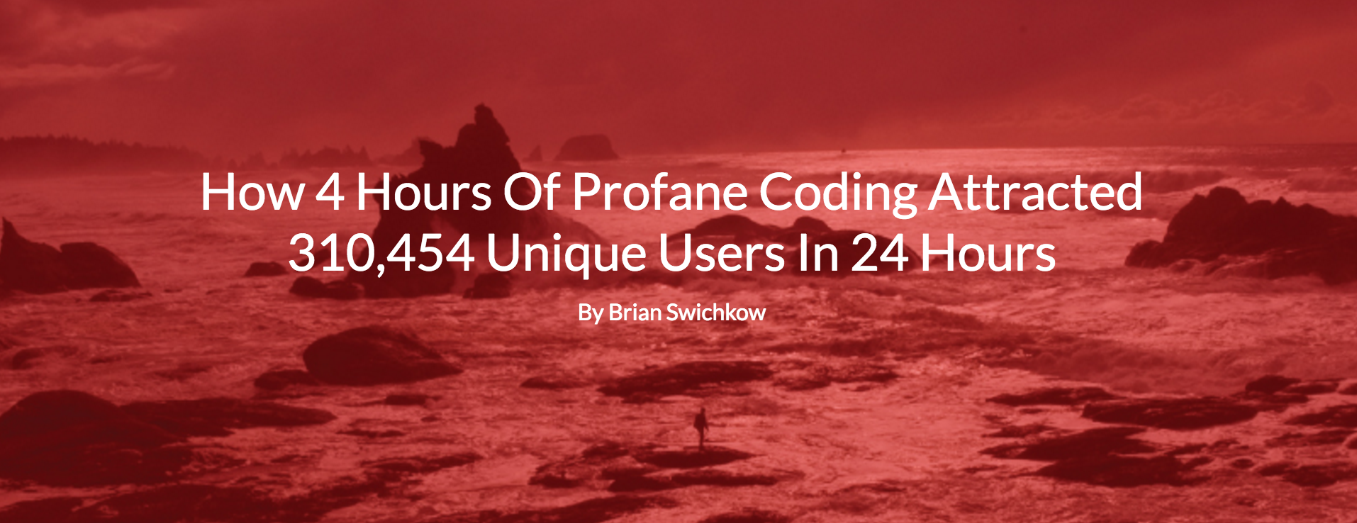 ghost influence editorials How 4 Hours Of Profane Coding Attracted 310,454 Unique Users In 24 Hours